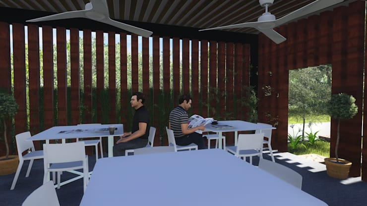 KU' TOH' CAFE: Comedores de estilo  por MUTAR Arquitectura