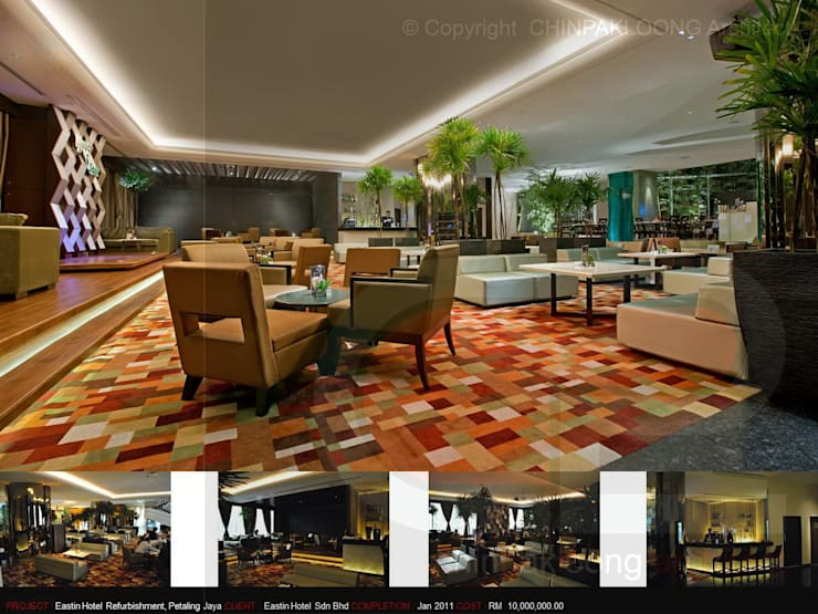 Eastin Hotel:  Hotels by CHINPAKLOONG Architect