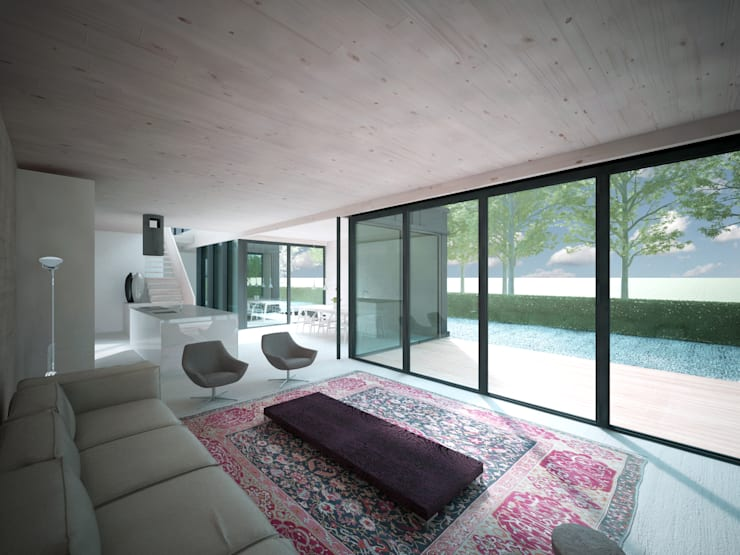Woonhuis JWVRA:  Woonkamer door artisan architects
