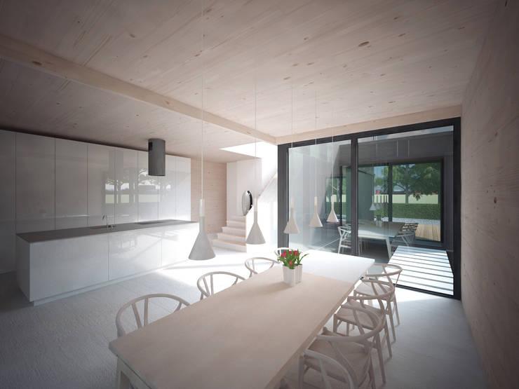 Woonhuis JWVRA:  Eetkamer door artisan architects