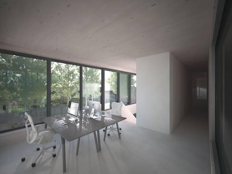 Woonhuis JWVRA:  Studeerkamer/kantoor door artisan architects