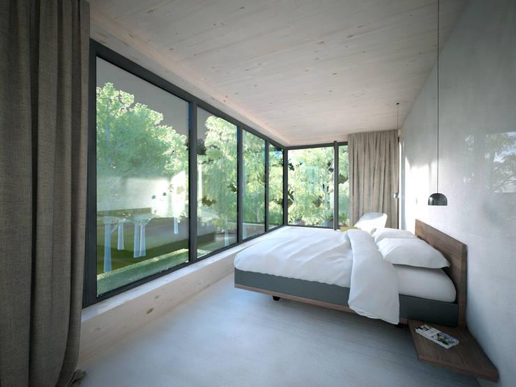 Woonhuis JWVRA:  Slaapkamer door artisan architects