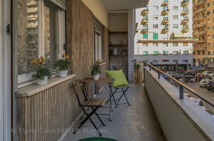 Home Staging a Ponte Milvio: Terrazza in stile  di Flavia Case Felici