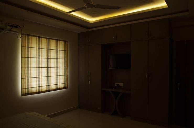 Residential 3bhk, Madhapur:  Bedroom by DeTekton