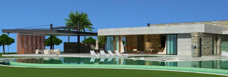 Maisons de style  par ARTIBODRUM MİMARLIK MÜH.İNŞ.TAAH.TİC.LTD.ŞTİ,