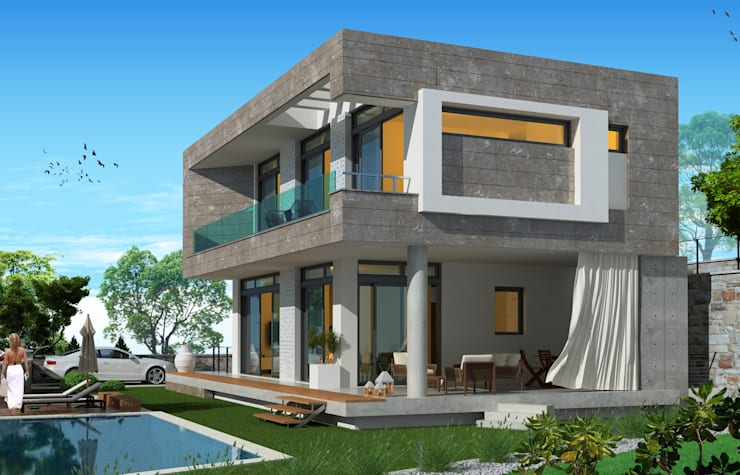 modern Houses by ARTIBODRUM MİMARLIK MÜH.İNŞ.TAAH.TİC.LTD.ŞTİ