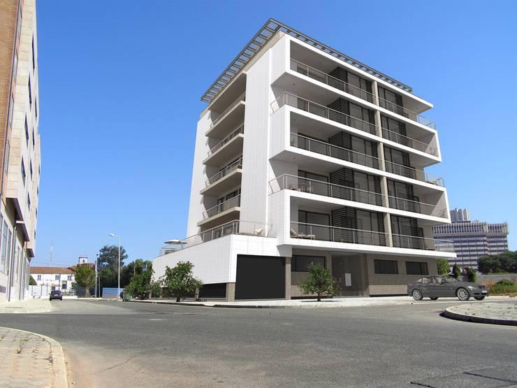 Edifício de Habitação colectiva - Varandas da Ria : Casas  por José Vitória Arquitectura