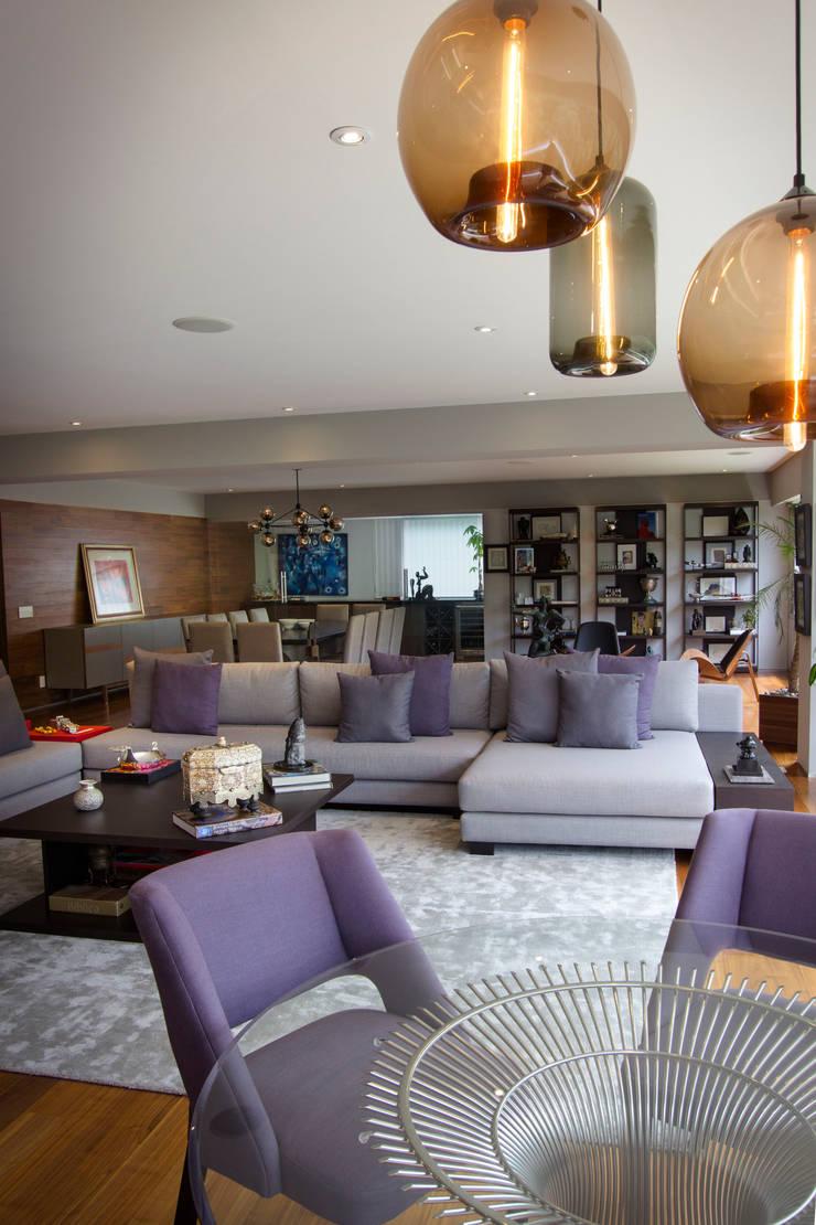 Departamento GS: Salas de estilo  por Concepto Taller de Arquitectura