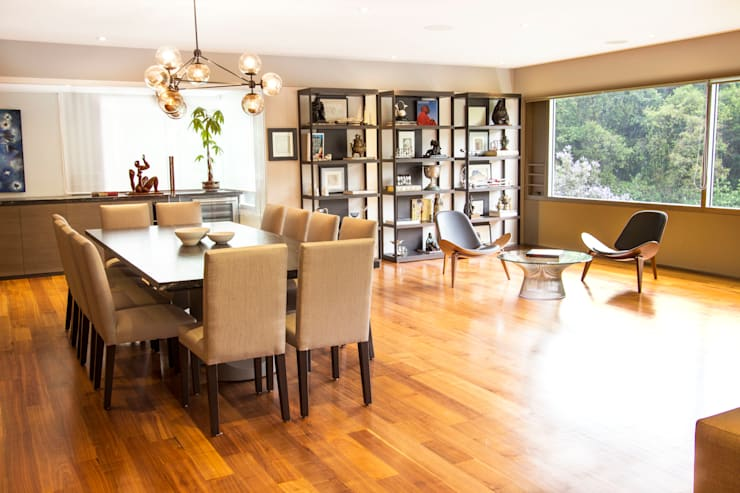 modern Dining room by Concepto Taller de Arquitectura