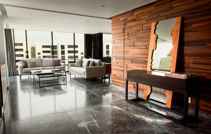 Departamento ML Salones modernos de Concepto Taller de Arquitectura Moderno