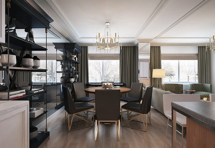 Green Gray: Столовые комнаты в . Автор – KAPRANDESIGN