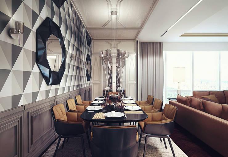 D&N: Столовые комнаты в . Автор – KAPRANDESIGN