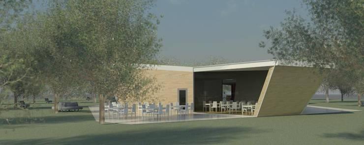 Restaurante e Bar - exterior 4: Espaços de restauração  por Atelier 12