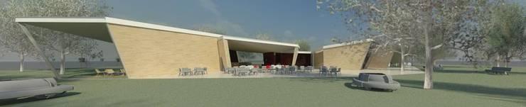 Restaurante e Bar - exterior 5: Espaços de restauração  por Atelier 12