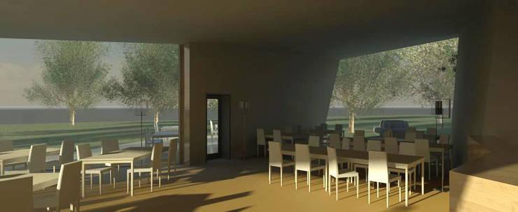 Restaurante e Bar - interior 3: Espaços de restauração  por Atelier 12