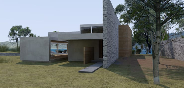 Casa Colima:  de estilo  por Grupo Pi Victtus