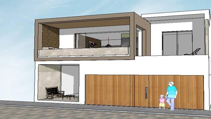 Edificio Bifamiliar Pon - fachada: Casas de estilo  por 1en1arquitectos
