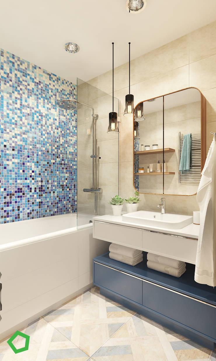 Baños de estilo  por Polygon arch&des, Minimalista