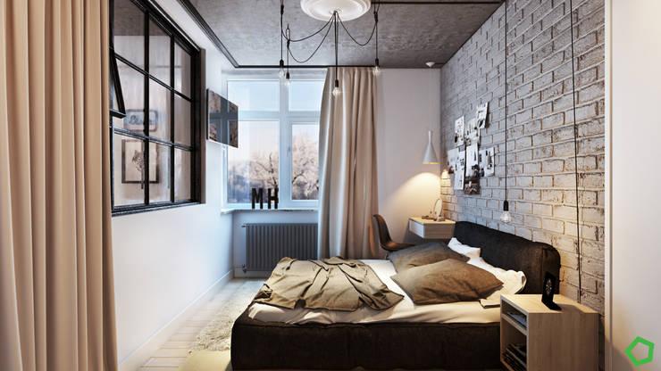 Loft 71: Спальни в . Автор – Polygon arch&des