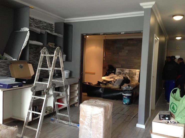 Gallery / Work in Progress:  Living room by DRIFTWOOD INTERIORS & EXTERIORS
