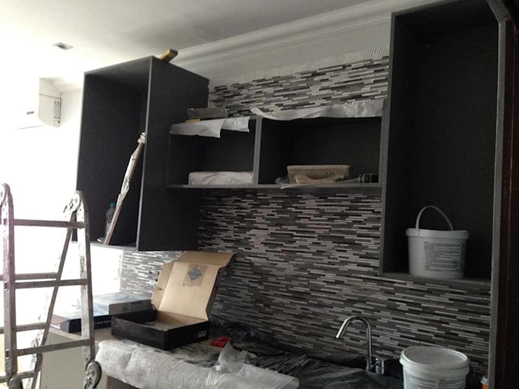 Gallery / Work in Progress: modern Kitchen by DRIFTWOOD INTERIORS & EXTERIORS