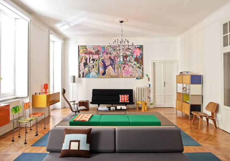 Salas de estilo ecléctico de Fabio Azzolina Architetto Ecléctico