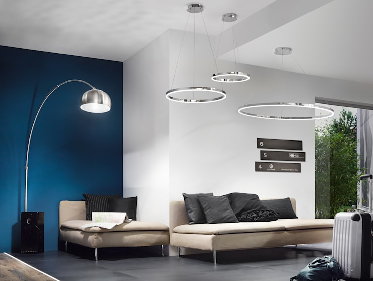 s.LUCE Ring:  Wohnzimmer von Licht-Design Skapetze GmbH & Co. KG