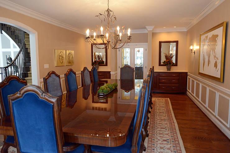 Villanova :  Dining room by Mel McDaniel Design