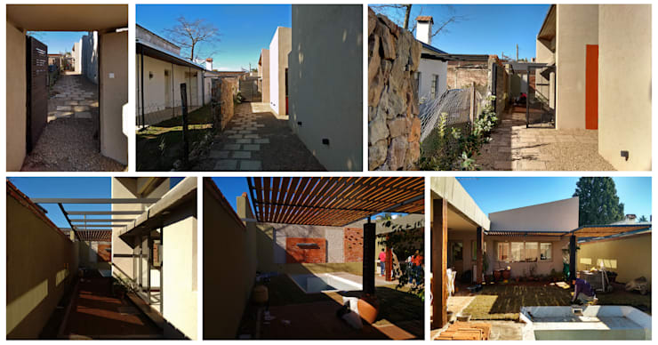 Diseño y construcción de Casa <q>patios entre medianeras</q> por 1.61 Arquitectos: Casas de estilo  por 1.61 Arquitectos,
