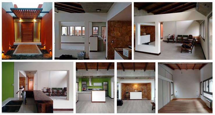 Diseño y construcción de Casa <q>patios entre medianeras</q> por 1.61 Arquitectos: Comedores de estilo  por 1.61 Arquitectos,