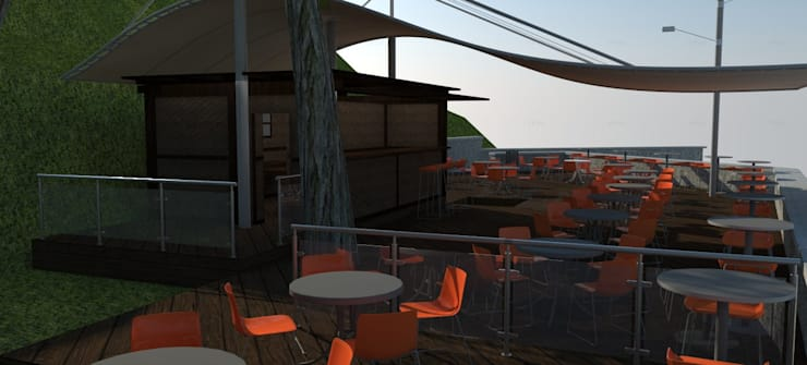 Cafe Bistro: Comedores de estilo  por Atahualpa 3D
