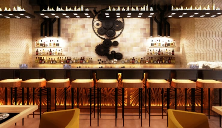 BAR COUNTER:  Bars & clubs by Akaar architects