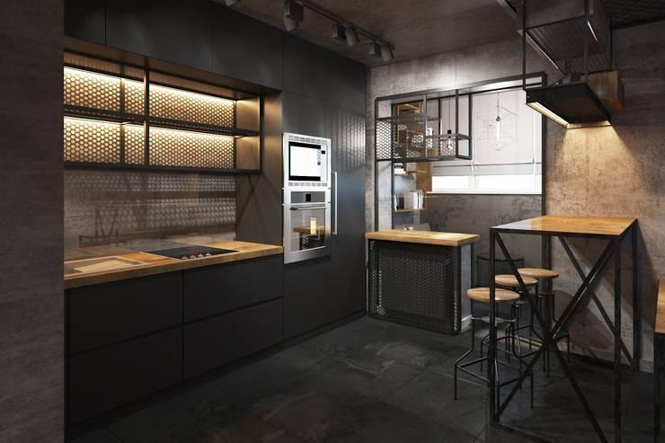 Бетон и дерево: Кухни в . Автор – Zikzak Design Studio
