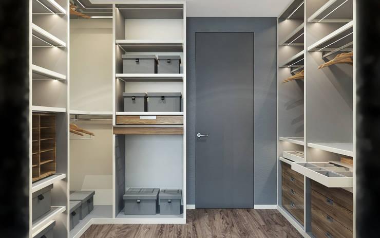Modern Home: Гардеробные в . Автор – ZIKZAK architects