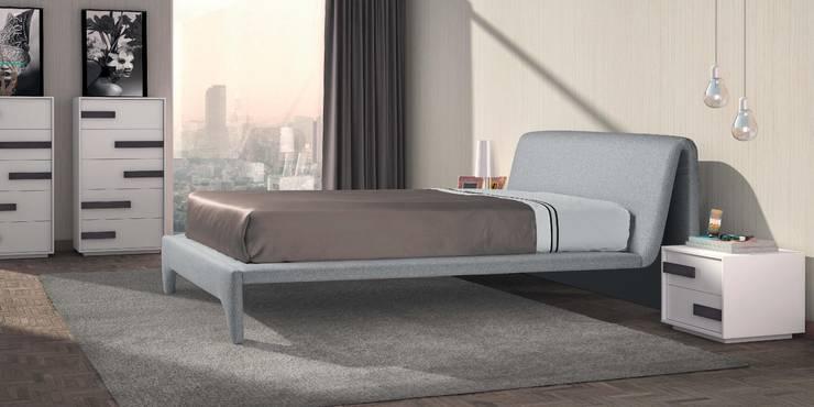Mobiliário de quartos modernos Furniture of modern bedrooms www.intense-mobiliario.com  NAPOLEON : Quarto  por Intense mobiliário e interiores;