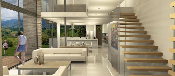 Casa Dapa LM: Salas de estilo  por COLECTIVO CREATIVO, Moderno