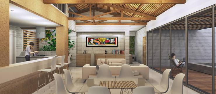 Casa La Morada DV: Comedores de estilo  por COLECTIVO CREATIVO