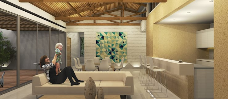 Living room by COLECTIVO CREATIVO,