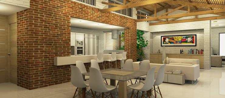 Casa La Morada DV: Comedores de estilo moderno por COLECTIVO CREATIVO