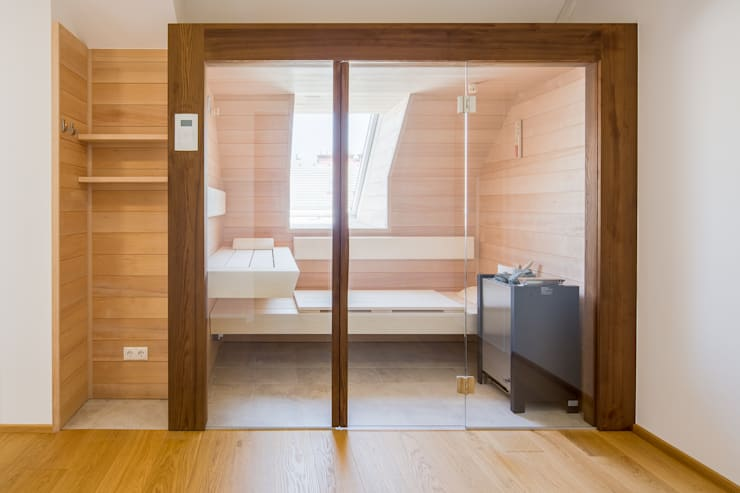 Maßgefertigte Sauna:  Spa von Kathameno Interior Design e.U.