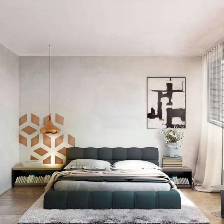Edifico Versalles: Habitaciones de estilo moderno por COLECTIVO CREATIVO