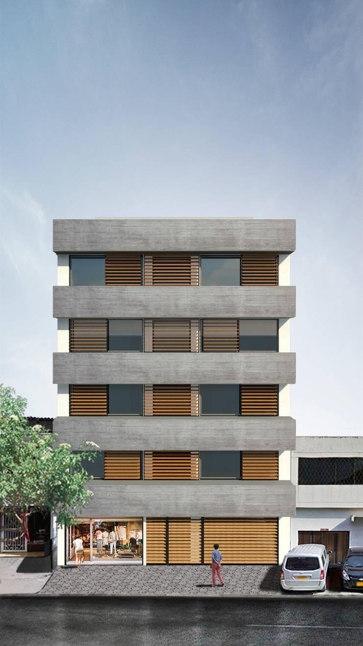 Edifico Versalles: Casas de estilo  por COLECTIVO CREATIVO