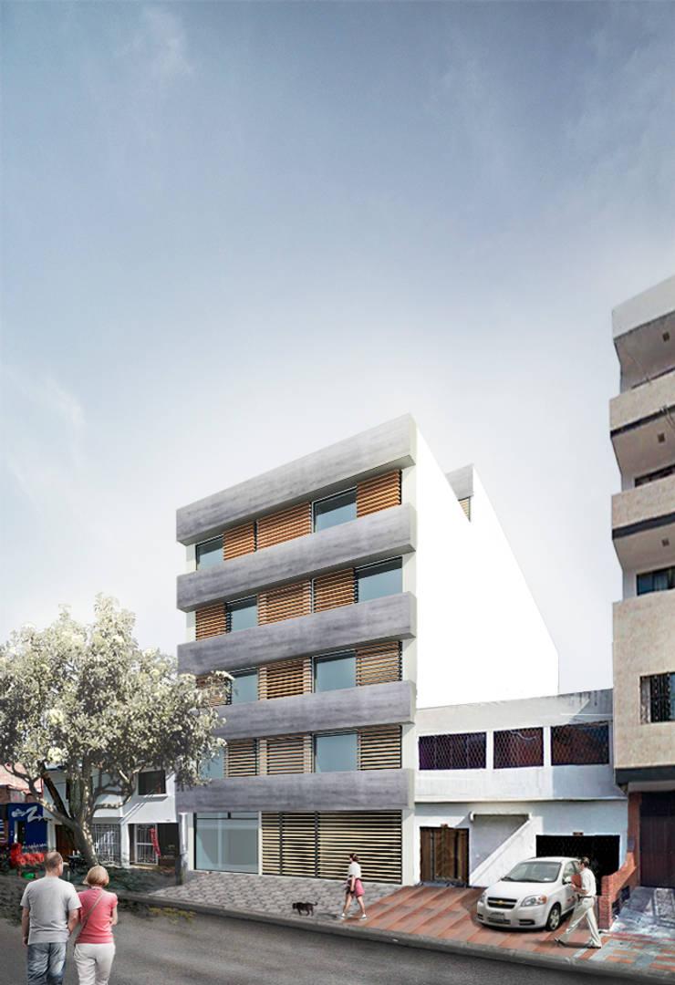 Edifico Versalles: Terrazas de estilo  por COLECTIVO CREATIVO