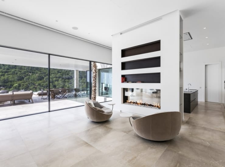 salon: Salones de estilo  de Bornelo Interior Design