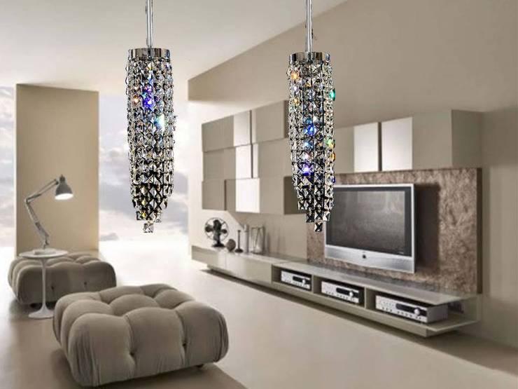 Riel Quadrel 2 luces: Salas/Recibidores de estilo  por Goldencris