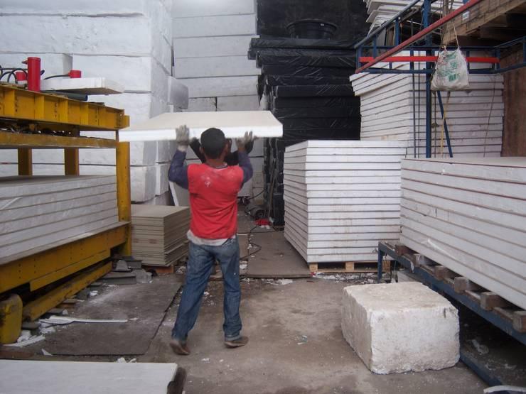 Fabrica Paneles sistema OSP o EPS.: Casas de estilo  por Sistemas de construcción enceco