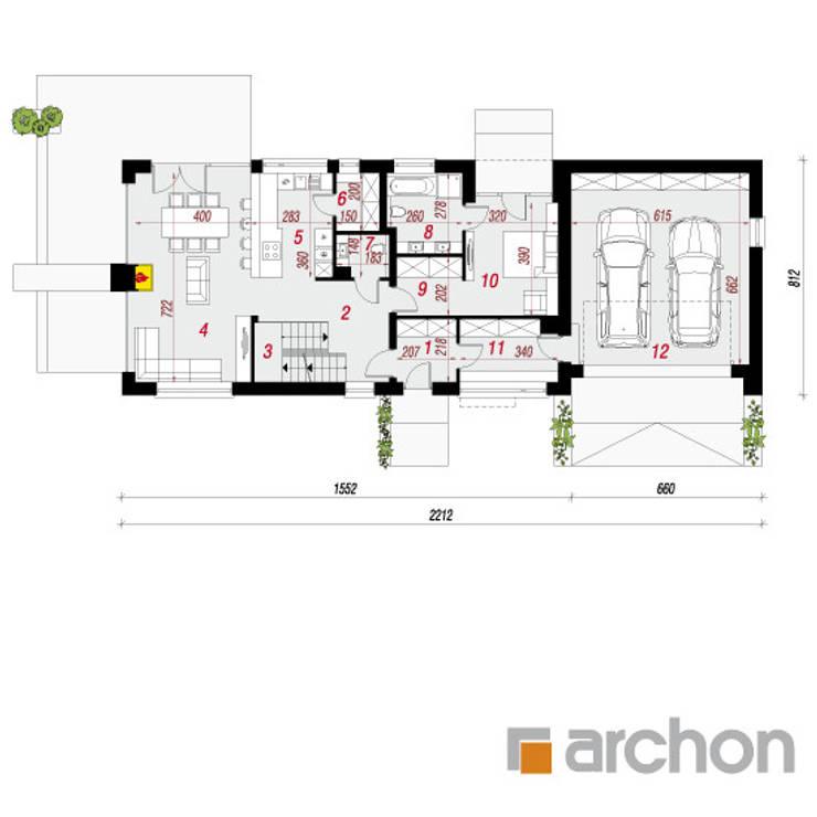 de estilo  por ARCHON+ PROJEKTY DOMÓW
