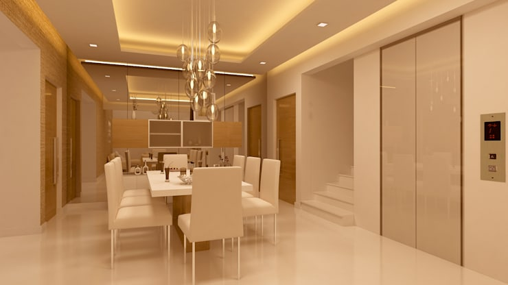 DINING AREA:   by De Panache  - Interior Architects