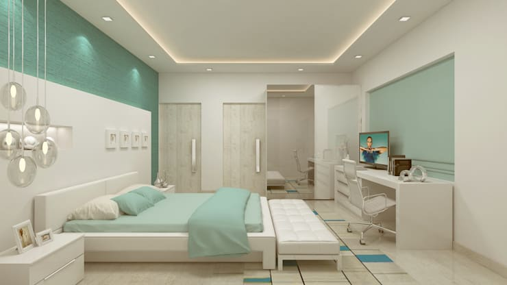 GUEST BEDROOM:   by De Panache  - Interior Architects