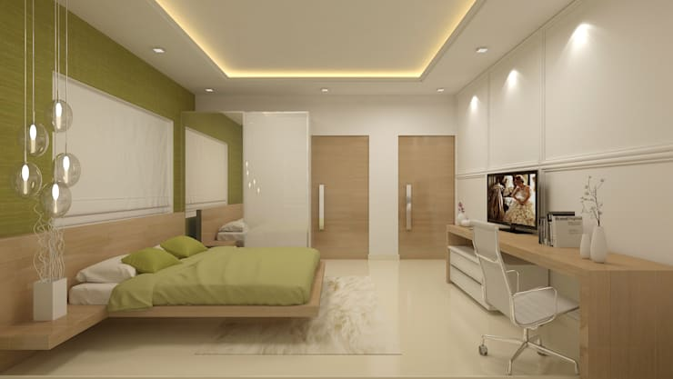 PARENTS BEDROOM:   by De Panache  - Interior Architects